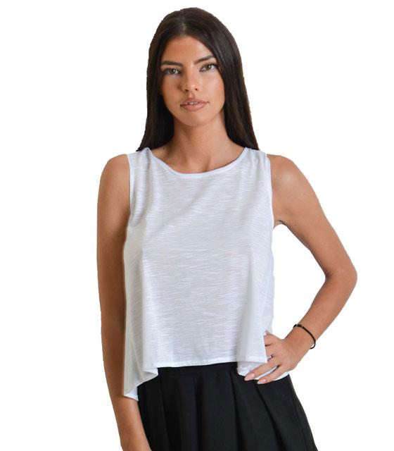 Αμάνικη μπλούζα (Λευκή)