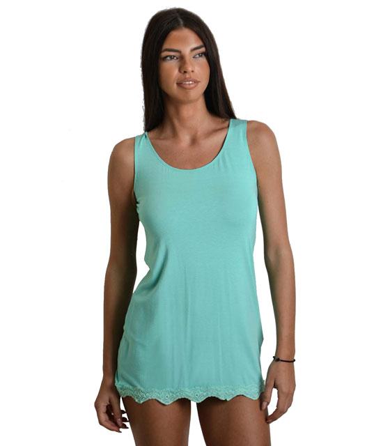 Αμάνικη μπλούζα με κεντητό σχέδιο (Βεραμάν)