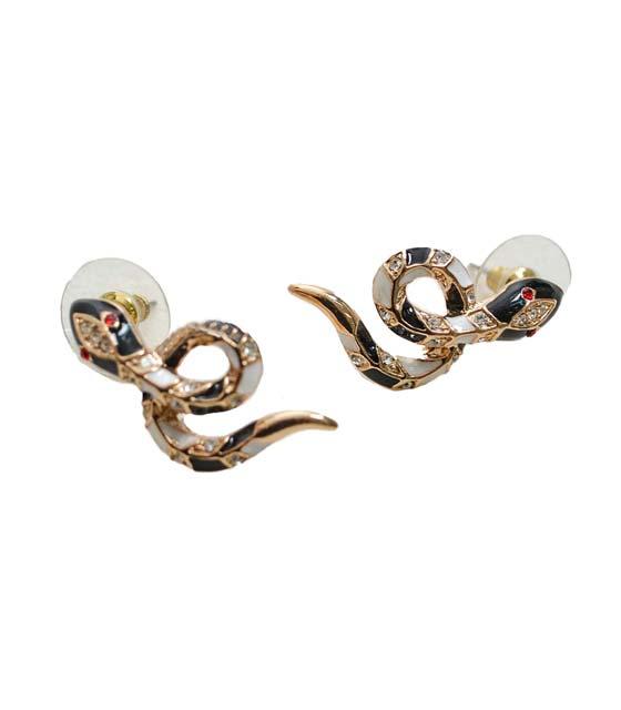 Χρυσά σκουλαρίκια σχέδιο φιδάκια