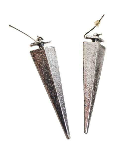 Χρυσά γεωμετρικά σκουλαρίκια