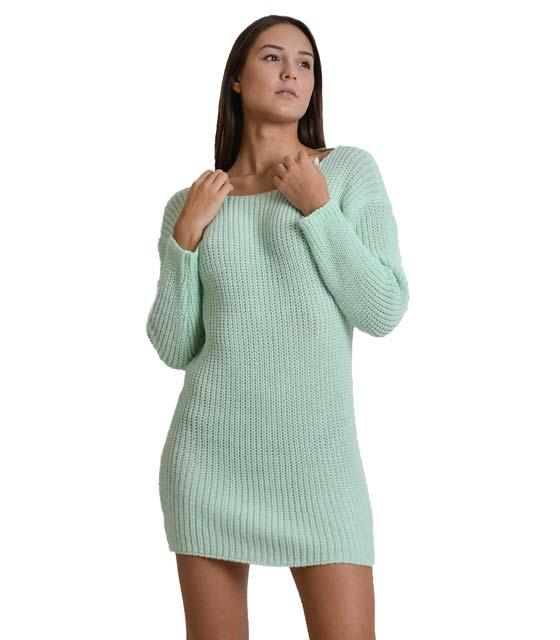 Φόρεμα πλεκτό με δέσιμο στην πλάτη (Βεραμάν)