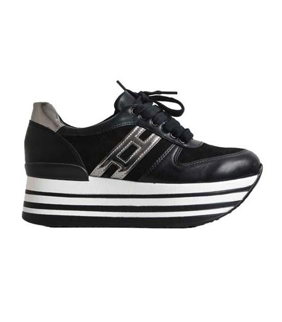 Μαύρο τρίπατο sneaker με ασημί λεπτομέρειες