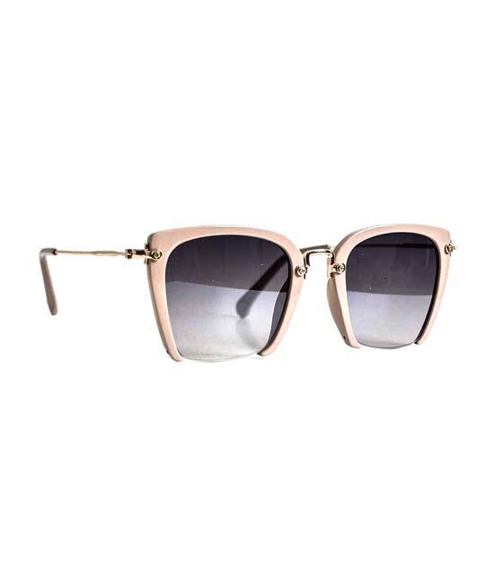 Γυαλιά ηλίου με συρμάτινη λεπτομέρεια vintage (Ροζ)