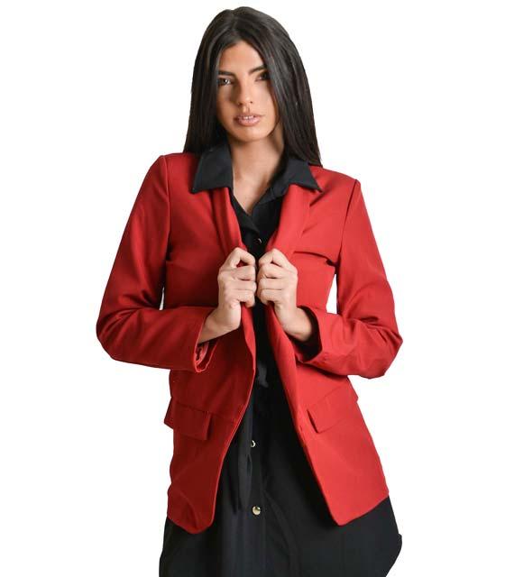 Μπορντό σακάκι με ρελιαστές τσέπες ρούχα   πανωφόρια   σακάκια   παλτό