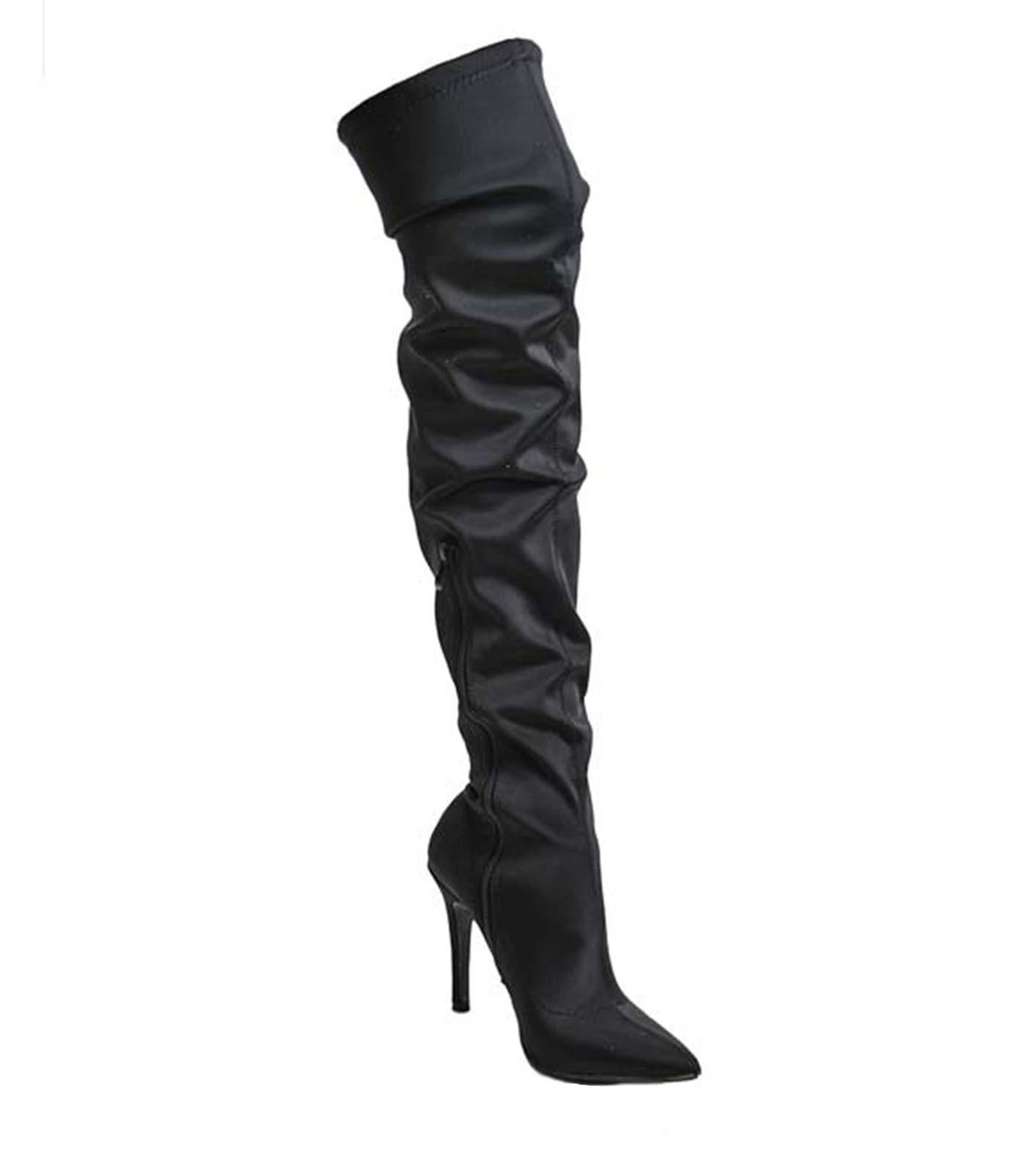 Μαύρη μπότα κάλτσα ελαστική
