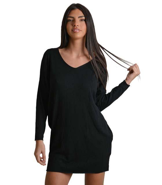 Ελαστικό πλεκτό φόρεμα (Μαύρο) ρούχα   πλεκτά