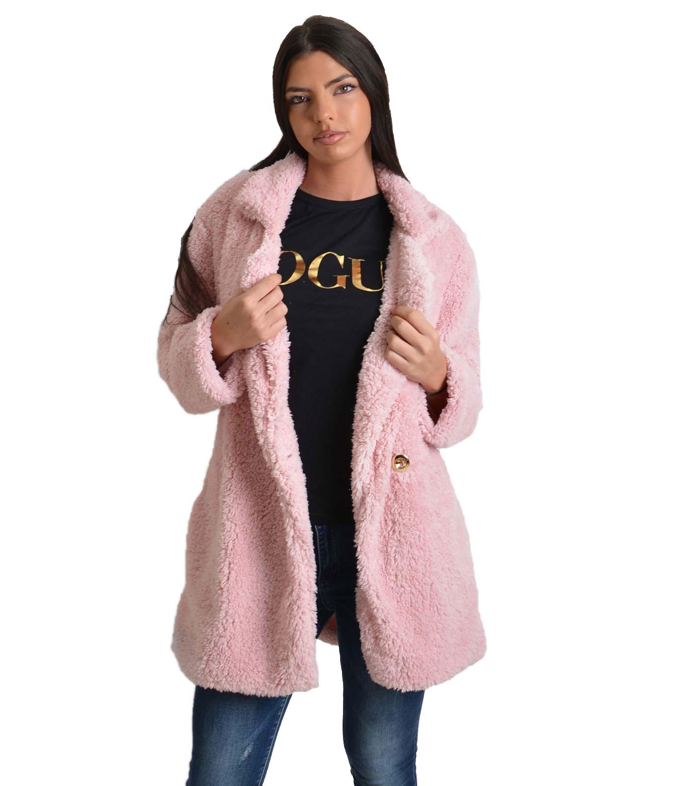 Ροζ γούνα φλις