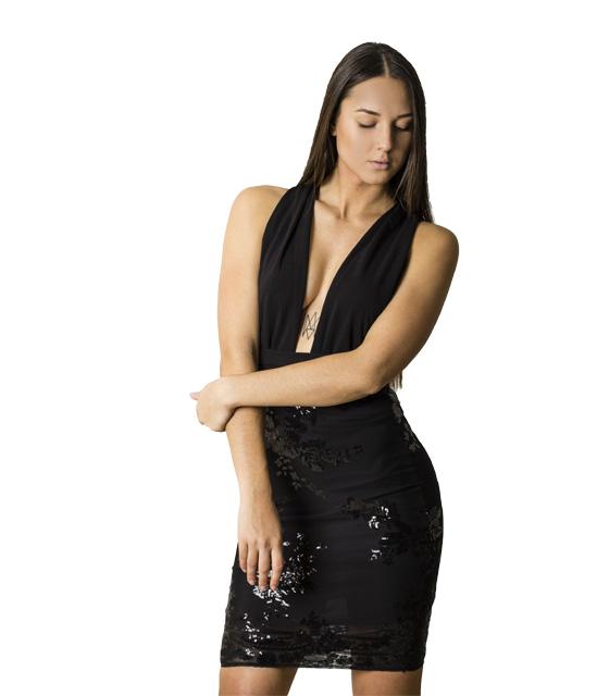 Πολυμορφικό φόρεμα με πούλιες (Μαύρο)