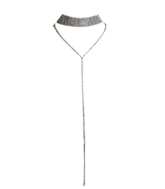 Διαμαντένιο choker κολιέ κρεμαστό Μαύρο
