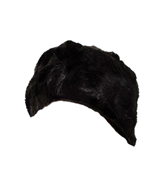 Σκουφάκι κεφαλής κορδέλα γούνινο (Μαύρο)