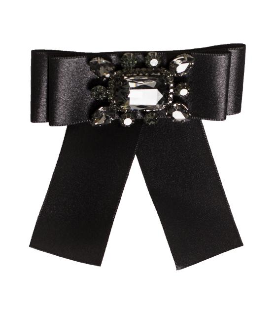 """Μαύρη διακοσμητική καρφίτσα με γεωμετρικά """"διαμάντια"""" αξεσουάρ   σκουλαρίκια"""