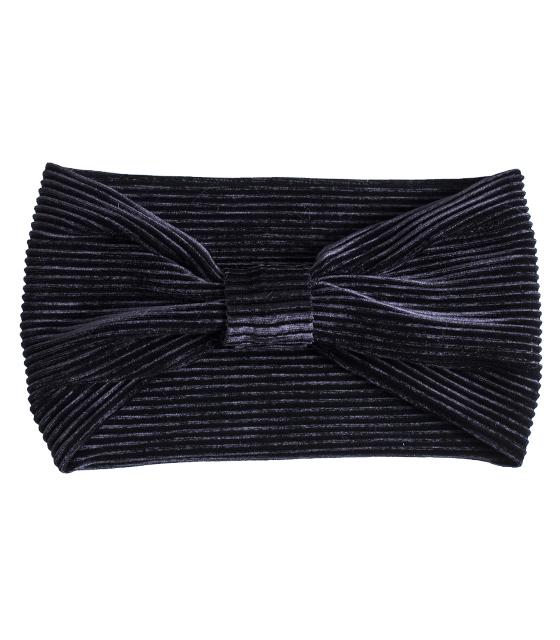 Βελούδινη κορδέλα μαλλιών πλισέ (Μαύρο) αξεσουάρ   καπέλα σκουφάκια