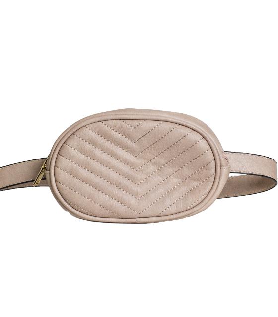Ροζ τσάντα δερματίνη με ζώνη (Beltbag)