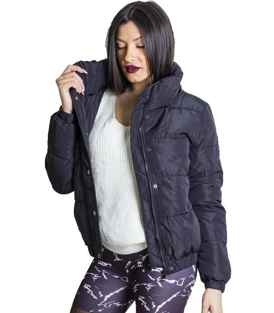 Μαύρο jacket με τσέπες και κουμπια