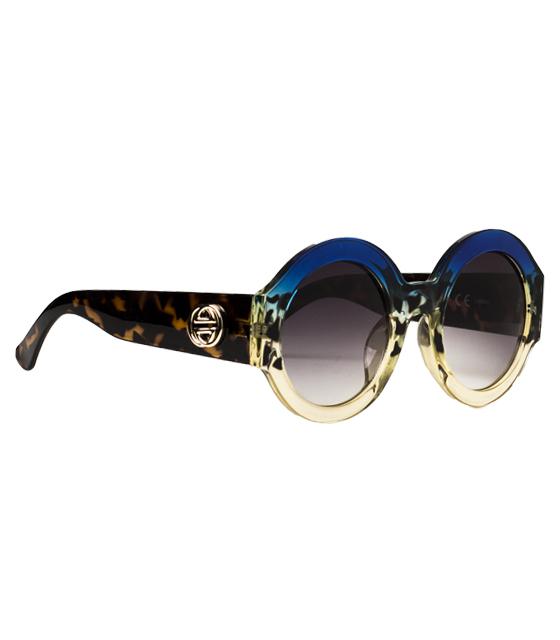 Γυαλιά ηλίου με τριχρωμία και λεοπάρ λεπτομέρειες