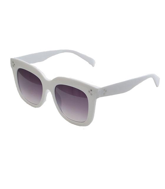 Λευκά γυαλιά με μαύρο φακό και κοκκάλινο σκελετό