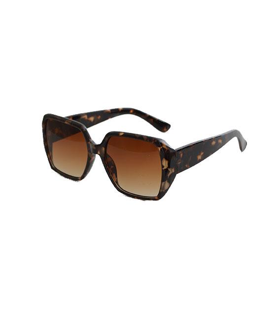 Γυαλιά ηλίου με καφέ φακό και κοκκάλινο μικρό σκελετό ταρταρούγα αξεσουάρ   γυαλιά