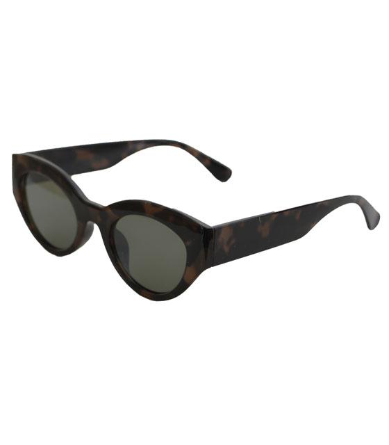 Cat-Eye γυαλιά με μαύρο φακό και κοκκάλινο σκελετό (Ταρταρούγα)