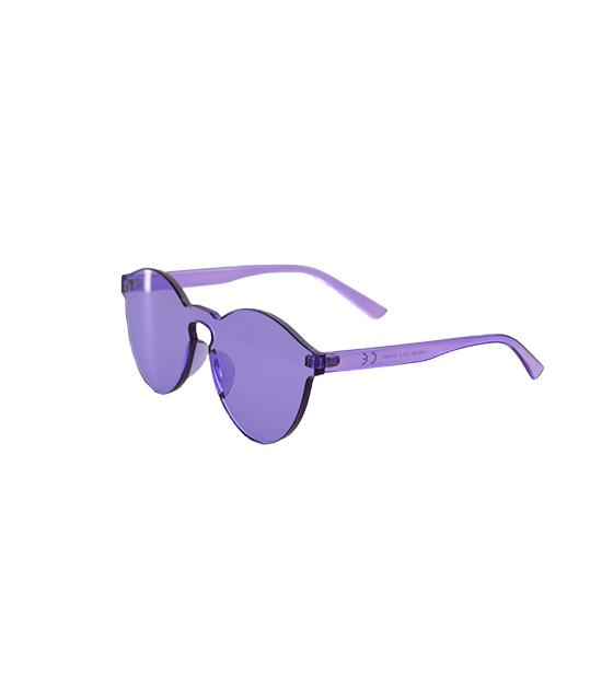 Στρογγυλά διάφανα κοκκάλινα γυαλιά (Μωβ) αξεσουάρ   γυαλιά