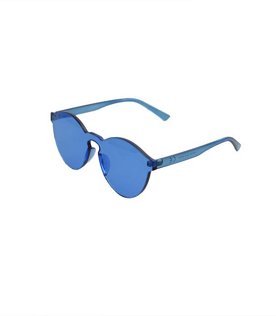 Στρογγυλά διάφανα κοκκάλινα γυαλιά (Μπλε) αξεσουάρ   γυαλιά