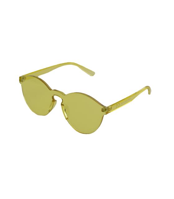 Στρογγυλά διάφανα κοκκάλινα γυαλιά (Κίτρινο) αξεσουάρ   γυαλιά