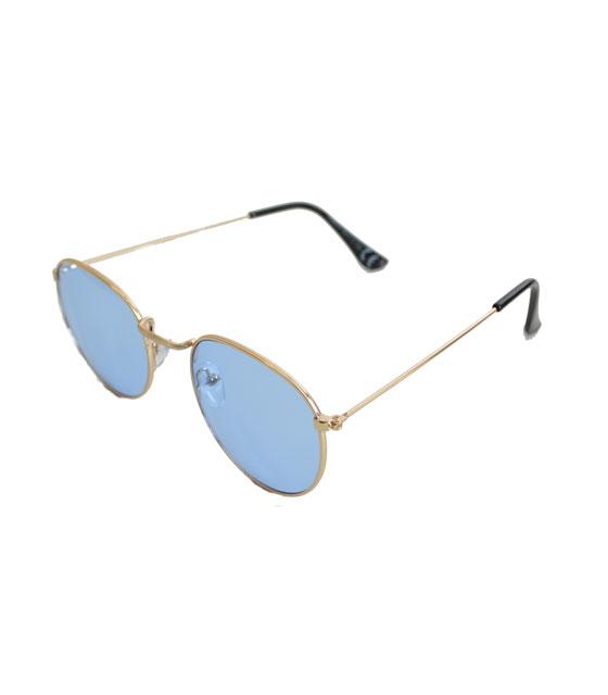 Γυαλιά ηλίου χρυσά συρμάτινα με μπλε φακό αξεσουάρ   γυαλιά
