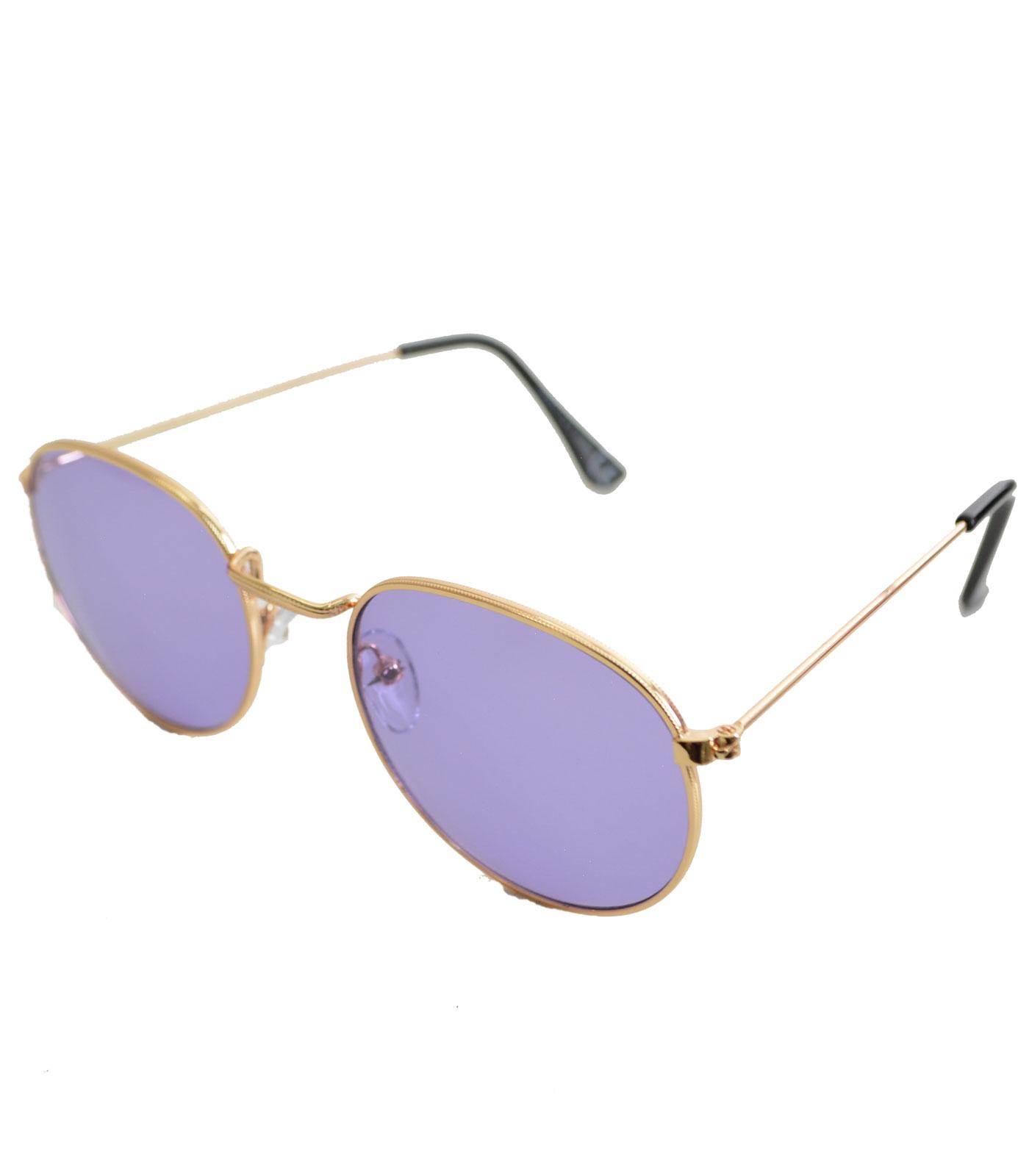 Γυαλιά ηλίου χρυσά συρμάτινα με μωβ φακό αξεσουάρ   γυαλιά