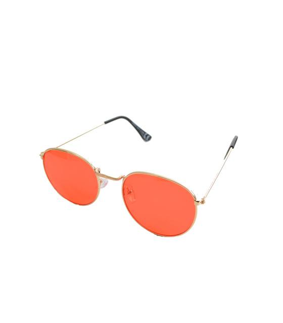Γυαλιά ηλίου χρυσά συρμάτινα με κόκκινο φακό αξεσουάρ   γυαλιά