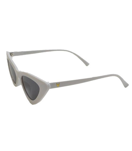 Cat-Eye γυαλιά ηλίου με μαύρο φακό (Λευκό)