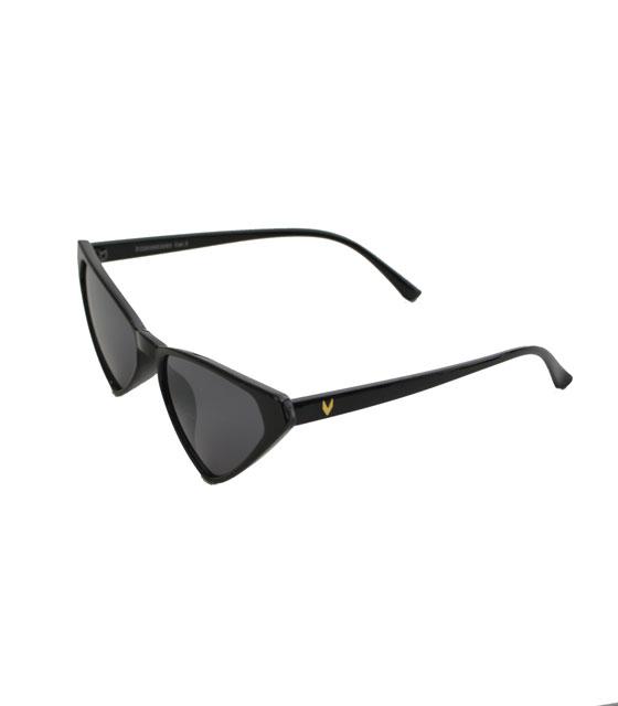 Μαύρα γυαλιά ηλίου Cat-Eye με μαύρο φακό