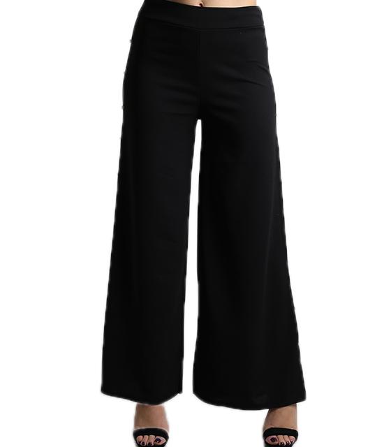Ψηλόμεση παντελόνα με πέρλες στο πλάι (Μαύρο)
