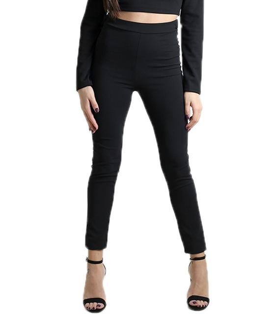 Μαύρο παντελόνι με τσέπες και χιαστή στο πίσω μέρος