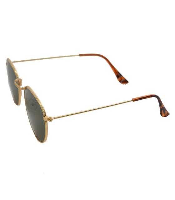 Γυαλιά ηλίου με χρυσό σκελετό και πράσινο φακό αξεσουάρ   γυαλιά