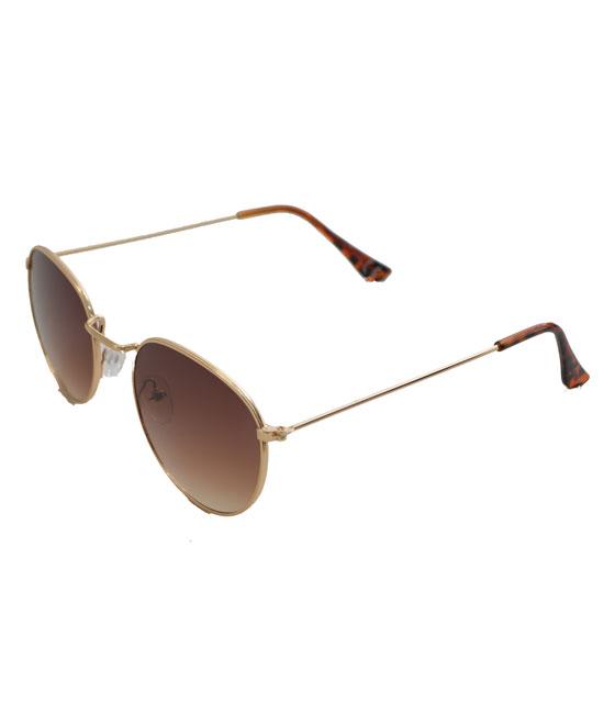 Γυαλιά ηλίου με χρυσό σκελετό και καφέ φακό αξεσουάρ   γυαλιά