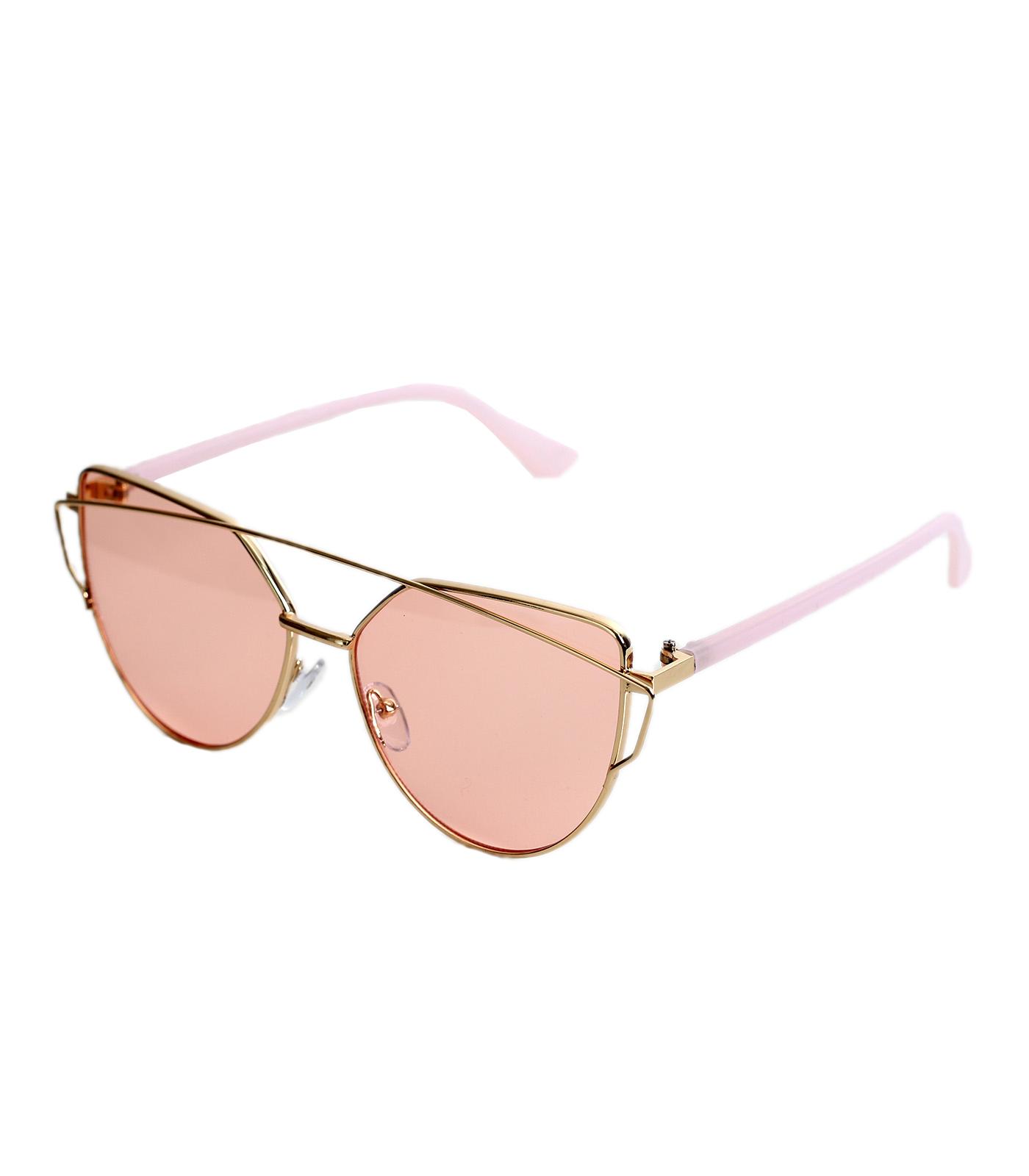 Γυαλιά με κόκκινο ροζ φακό και ροζ βραχίονα