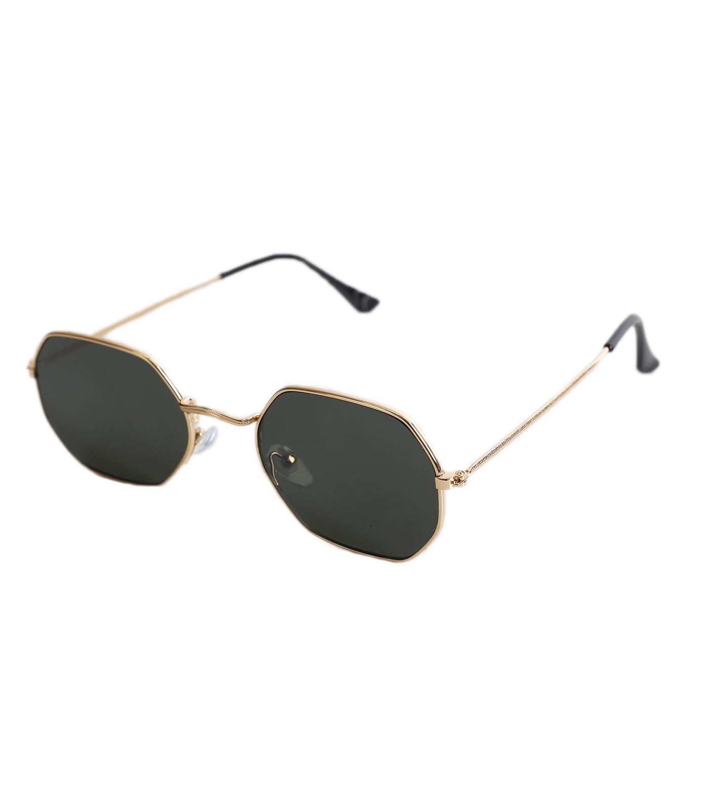 Γυαλιά ηλίου με πολύγωνο σκελετό και πράσινο φακό αξεσουάρ   γυαλιά