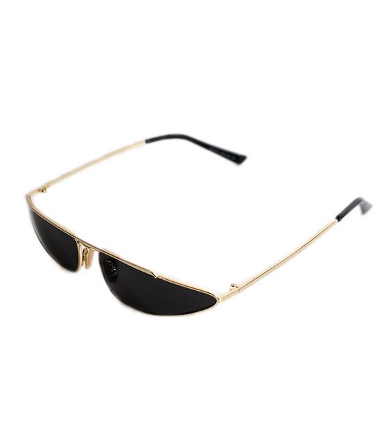 Γατίσια μεταλλικά γυαλιά με χρυσούς μεταλλικούς βραχίωνες (Μαύρο)
