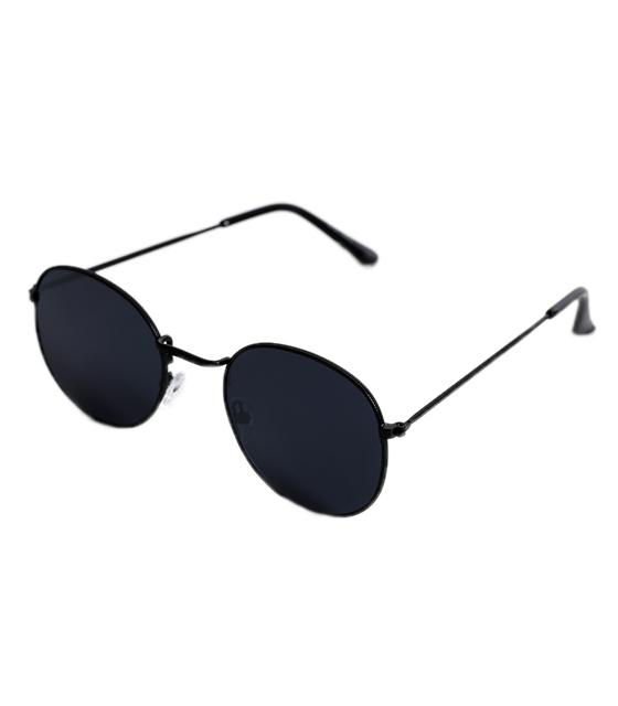 Οβάλ μεταλλικά γυαλιά με μαύρους μεταλλικούς βραχίωνες (Μαύρο)