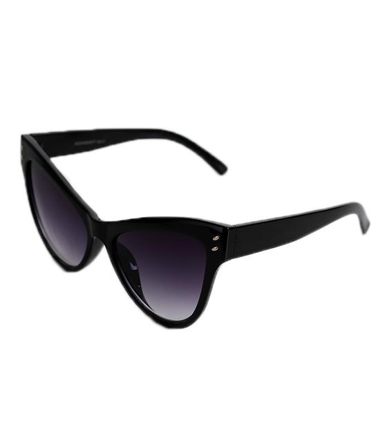 Cat-Eye κοκκάλινα γυαλιά με κοκκάλινους βραχίωνες (Μαύρο)