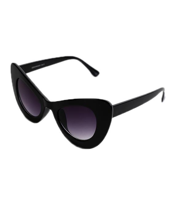 Γατίσια κοκκάλινα γυαλιά ηλίου (Μαύρο)