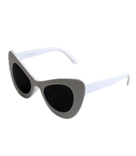 Γατίσια κοκκάλινα γυαλιά ηλίου (Λευκό)