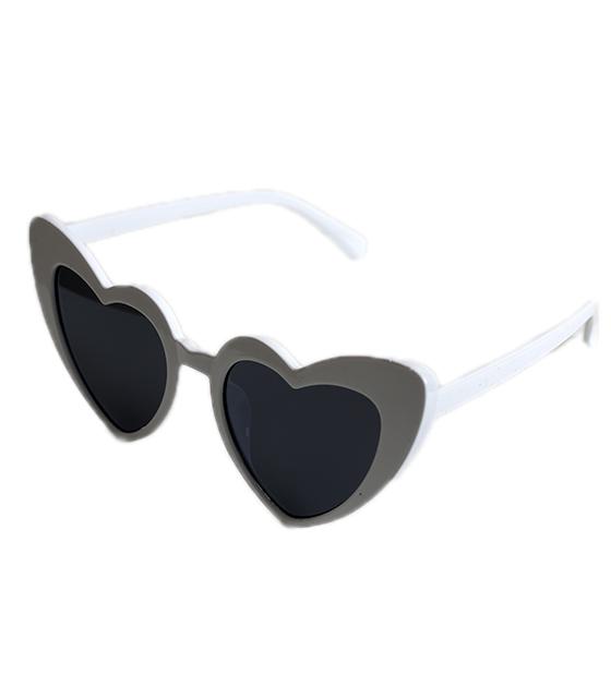 Γυαλιά ηλίου σε σχήμα καρδιάς (Λευκό)