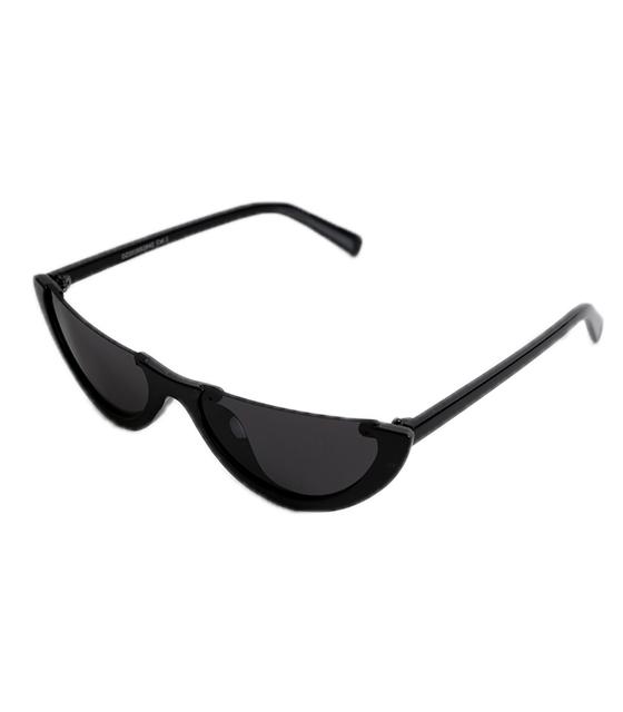 Μαύρα Cat-Eye γυαλιά ηλίου με μαύρο φακό