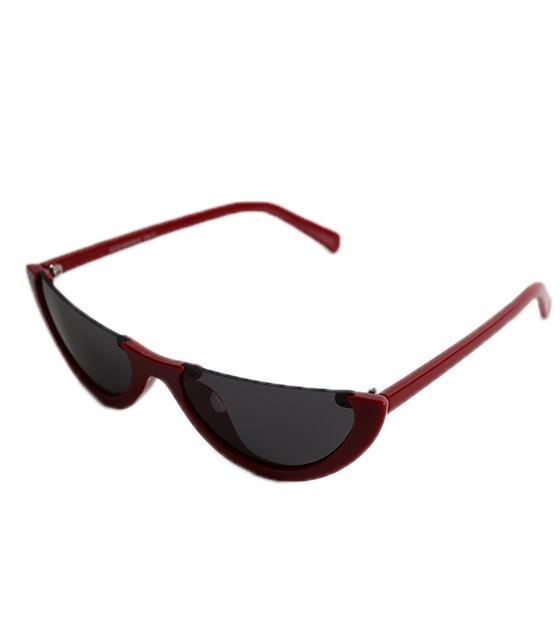 Μπορντό Cat-Eye γυαλιά ηλίου με μαύρο φακό αξεσουάρ   γυαλιά
