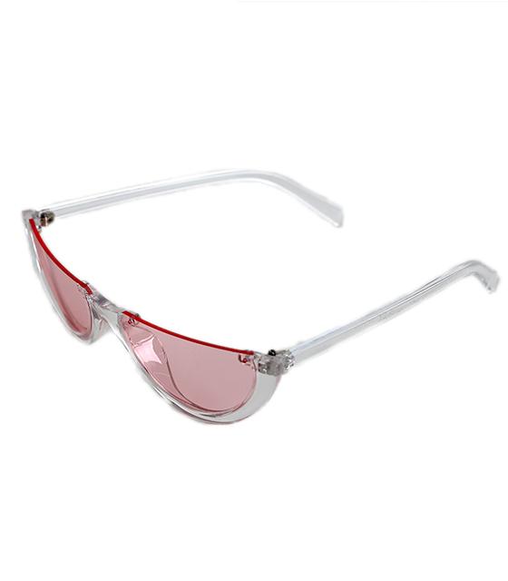 Μπορντό Cat-Eye γυαλιά ηλίου με μαύρο φακό