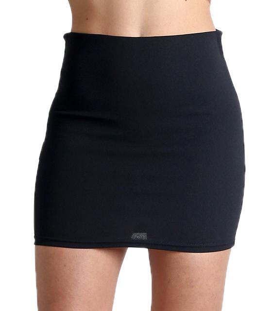Μίνι φούστα με λάστιχο στην μέση (Μαύρο)