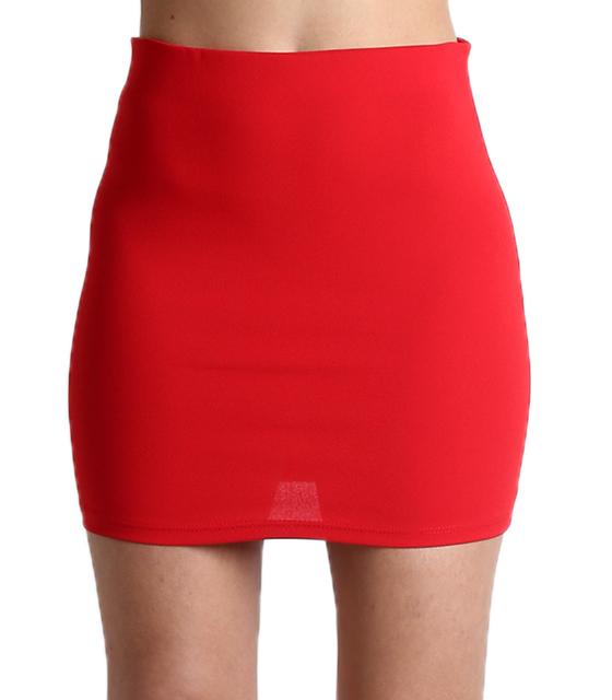 Μίνι φούστα με λάστιχο στην μέση (Κόκκινο) 254fcdf448d