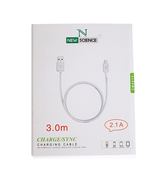 USB Charging Cable 2.1 A to Micro Usb Male 3M