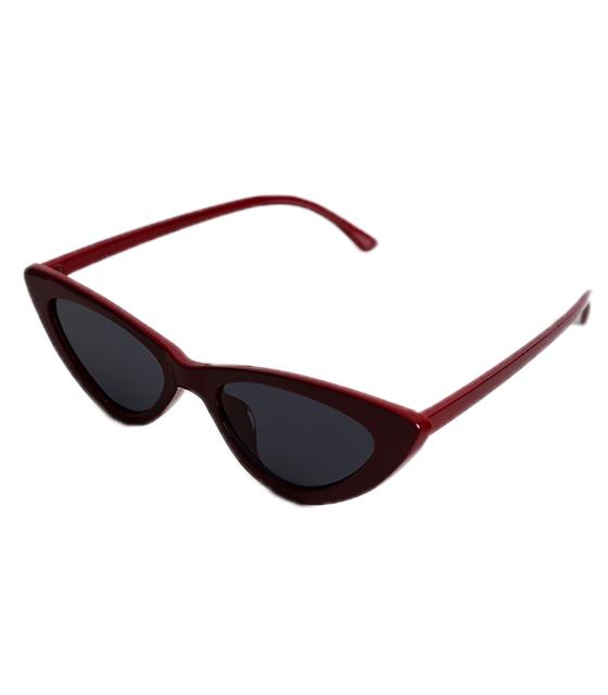 Cat-Eye γυαλιά ηλίου με μαύρο φακό (Μπορντό)