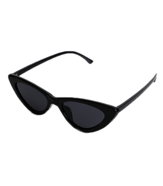 Cat-Eye γυαλιά ηλίου με μαύρο φακό (Μαύρο)